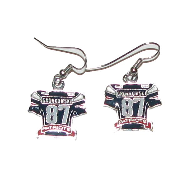 Gronk Jersey Earrings