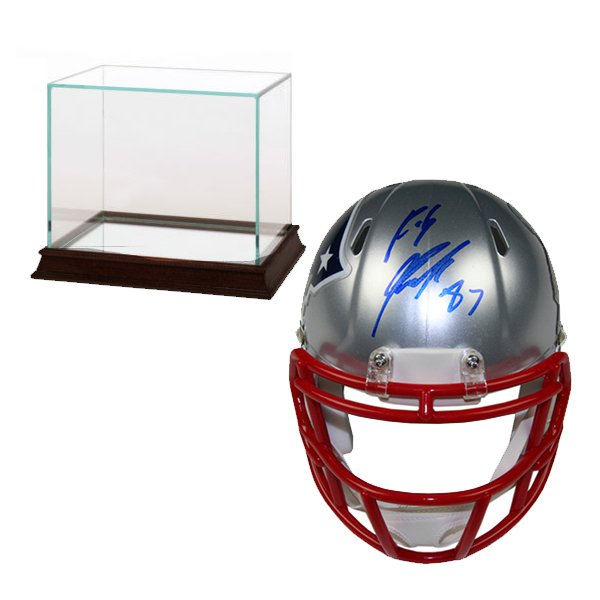 Signed Rob Gronkowski Super Bowl XLIX Mini Helmet