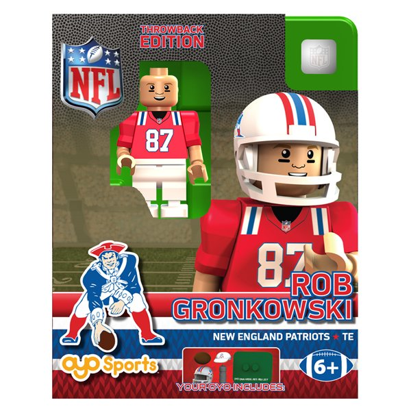 Patriots Rob Gronkowski Throwback Oyo Figure