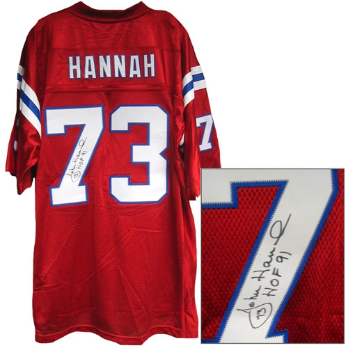 Autographed John Hannah Jersey