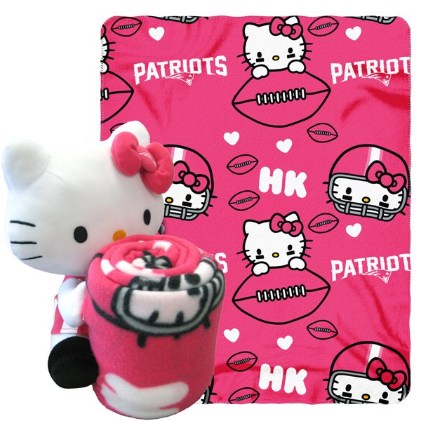 Patriots Hello Kitty Hugger Throw