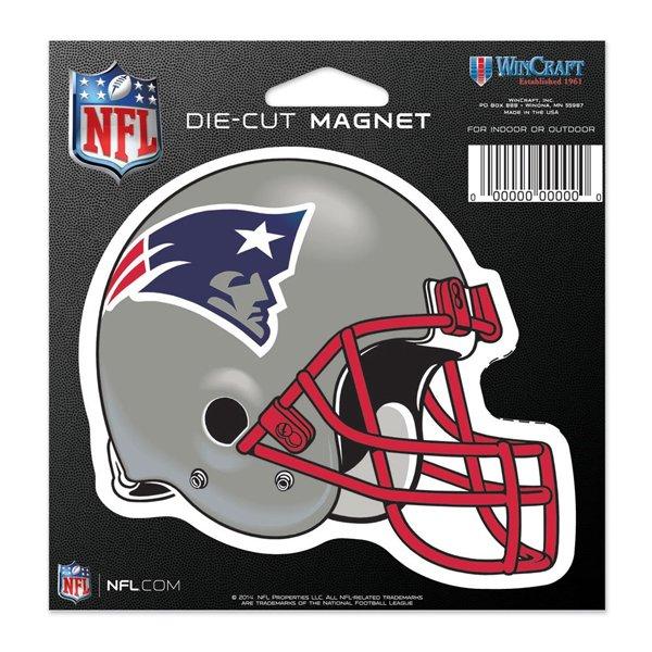 Patriots Helmet Die Cut 4x6 Magnet