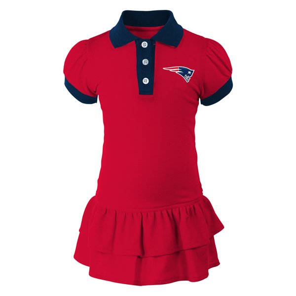 Infant Polo Dress-Red/Navy