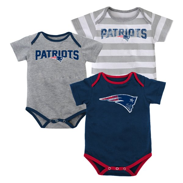Infant Field Goal Bodysuit-3pk