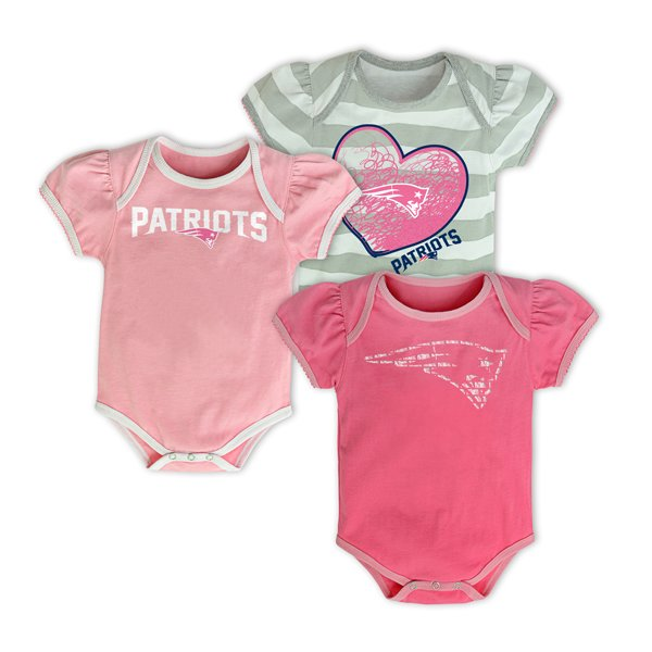 Infant Field Goal Pink Bodysuit-3pk