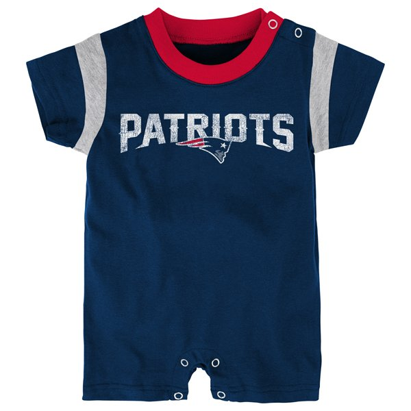 Infant Old School Romper-Navy