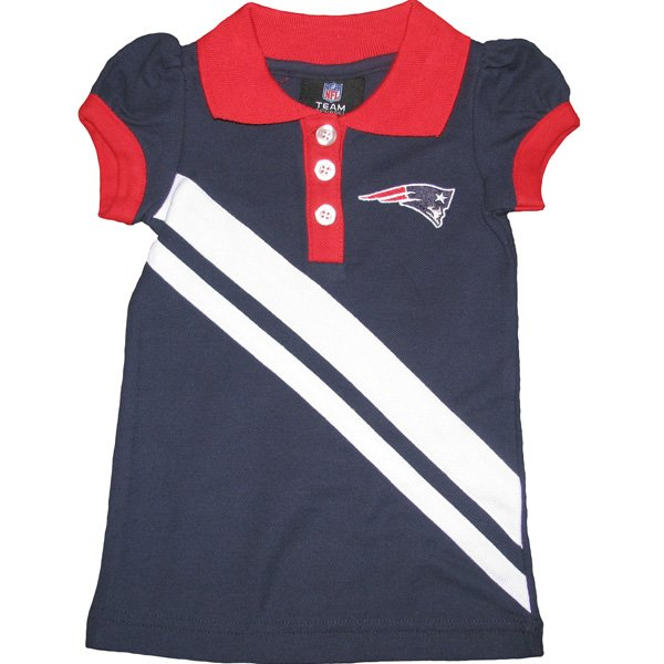 Infant Patriots Polo Dress-Navy/Red