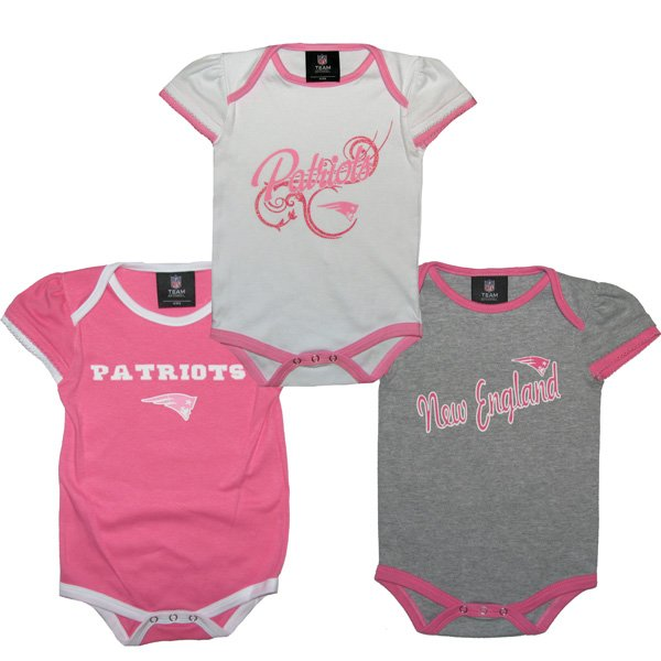 Infant 3pc Foldover Onesie-Pink