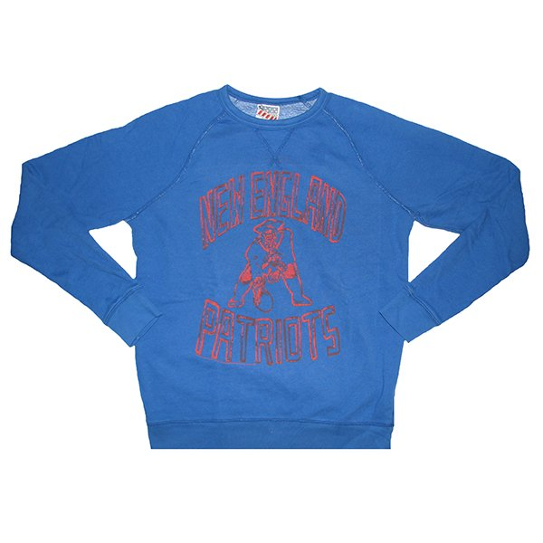 Junk Food Throwback Fleece Crew-Blue