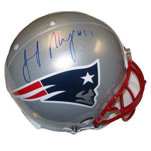 Jerod Mayo Signed Authentic Helmet