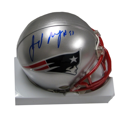Jerod Mayo Signed Mini Helmet
