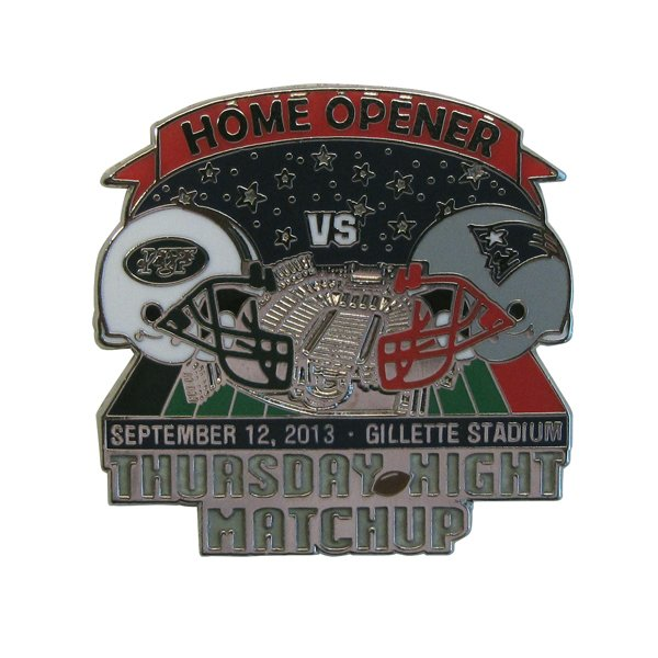 Patriots/Jets Gameday Pin 9-12-13
