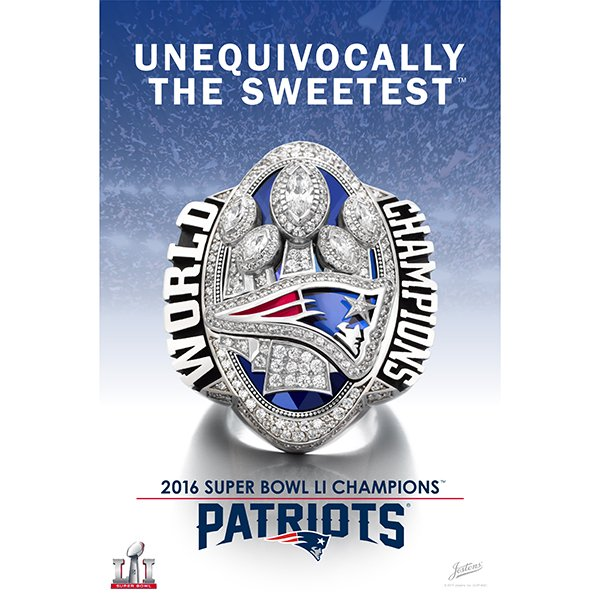 Super Bowl LI Champions Ring Poster
