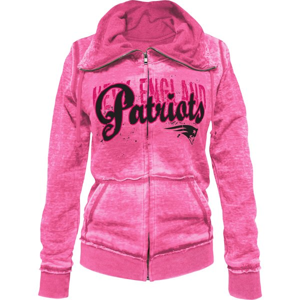 Junior Ladies Burn Full Zip Hood-Pink