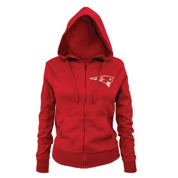 Junior Ladies Full Zip Hood-Red