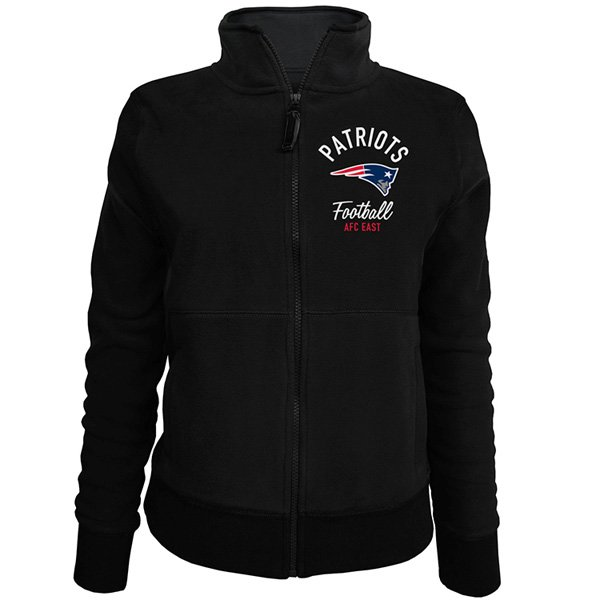 Junior Ladies Full Zip Polar Fleece-Black