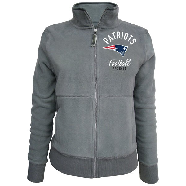 Junior Ladies Full Zip Polar Fleece Jacket-Gray