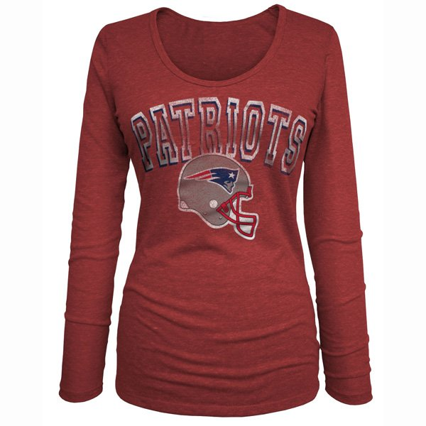 Junior Ladies Long Sleeve Tee-Red