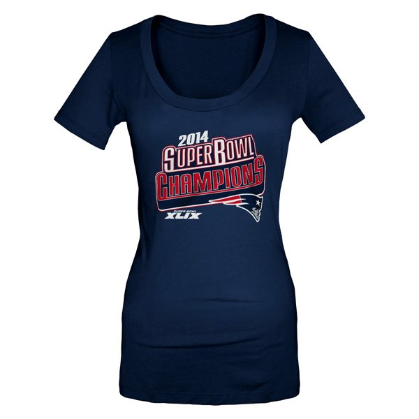 Junior Ladies Super Bowl XLIX Champs Tee-Navy