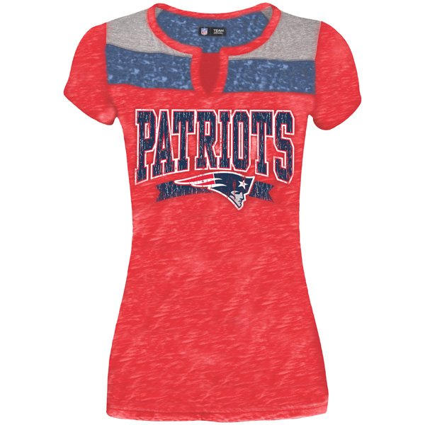 Junior Ladies Smith Tee-Red/Navy