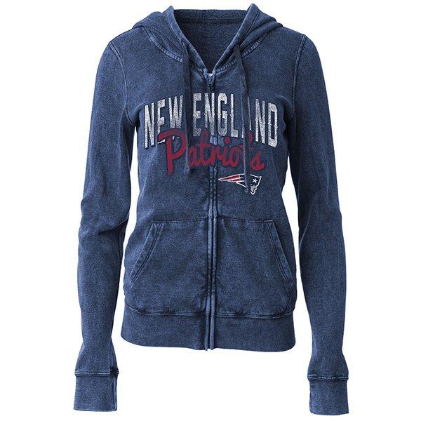 Junior Ladies Burn Full Zip Hood-Navy