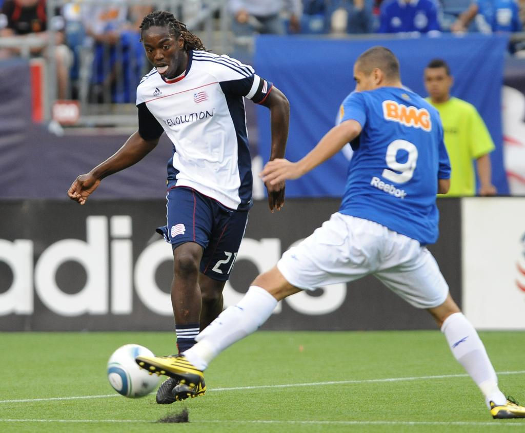 Shalrie Joseph and the Revs look to get back on track this Saturday against the Chicago Fire at Gillette Stadium.