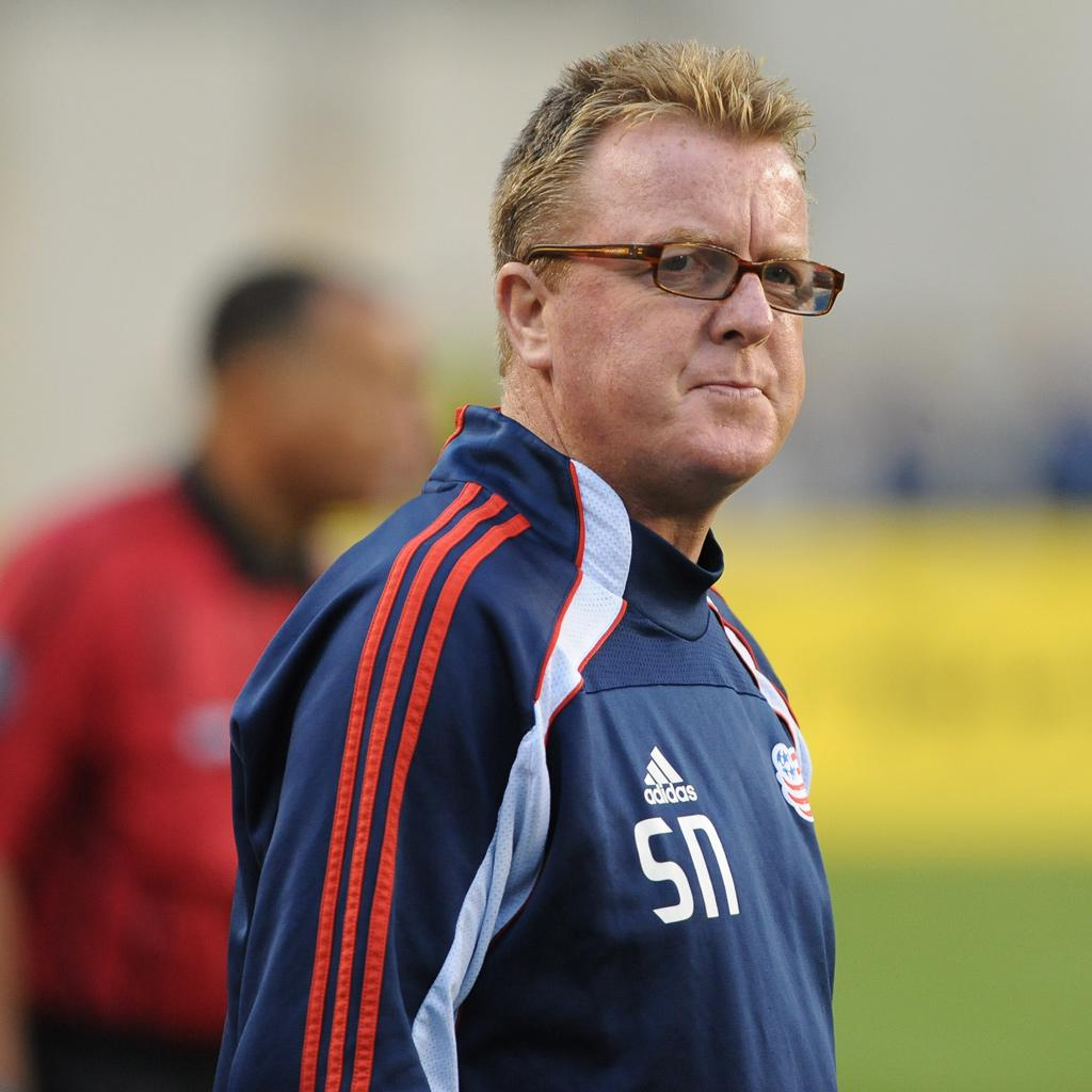 Head coach Steve Nicol is looking to guide the Revs to their sixth straight 10-win season