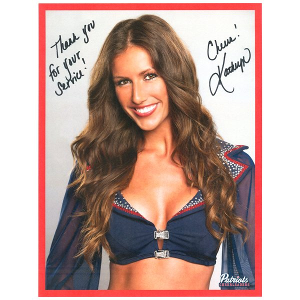 Kathryn Autographed 2013 Head Shot Photo