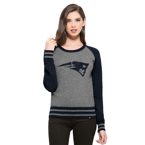 Ladies '47 Brand NEPS Sweater-Gray/Navy