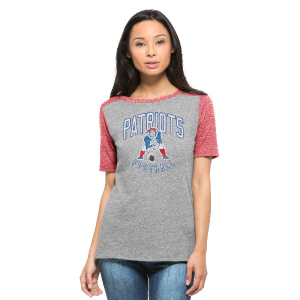 Ladies '47 Brand Throwback Empire Tee-Red