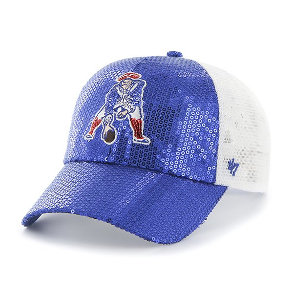 Ladies '47 Brand Throwback Dazzle Mesh Cap-Royal