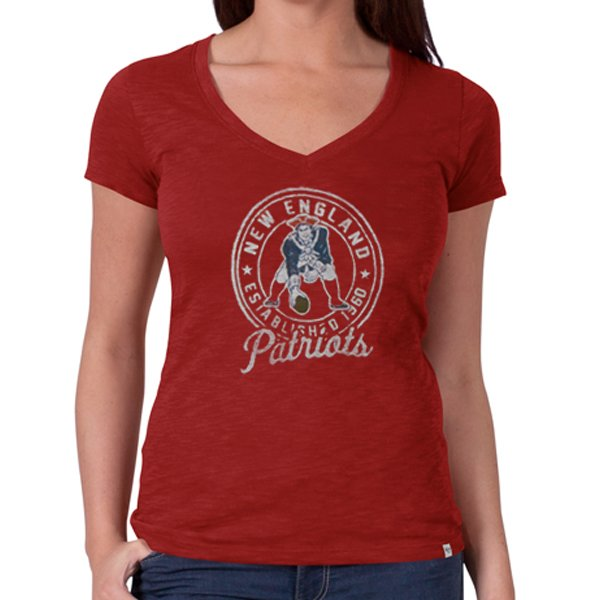 Ladies '47 Brand Throwback Rescue Scrum Tee-Red