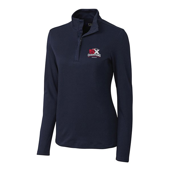 5X Champs Ladies Cutter & Buck Belfair Zip Top