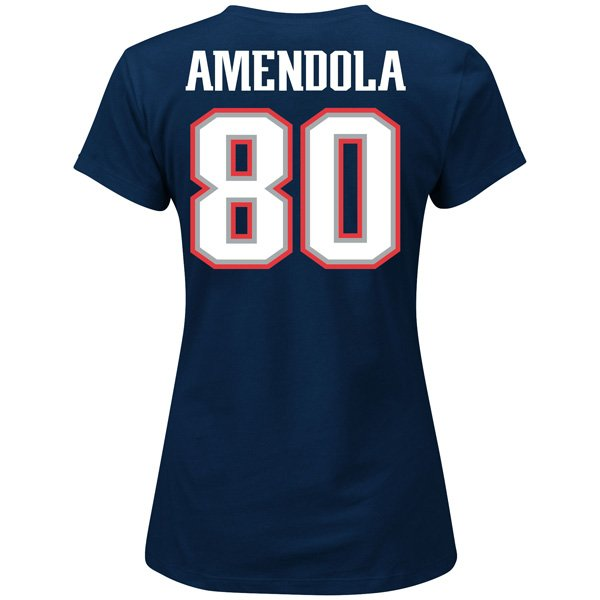 Ladies Danny Amendola Fair Catch Tee-Navy