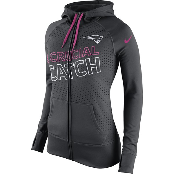 Ladies Nike BCA 2015 Full Zip Hood-Charcoal