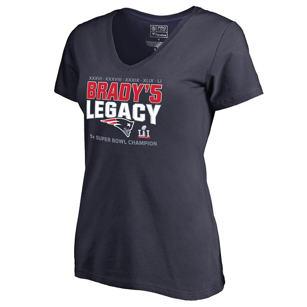 Ladies Brady Legacy Tee-Navy