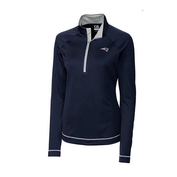 Ladies CB Long Sleeve Evolve 12 Zip TopNavy