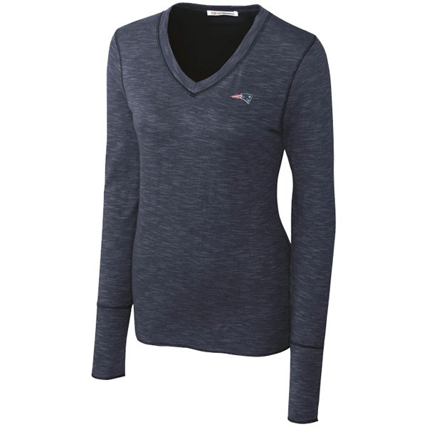 Ladies CB Long Sleeve Formation Top-Navy