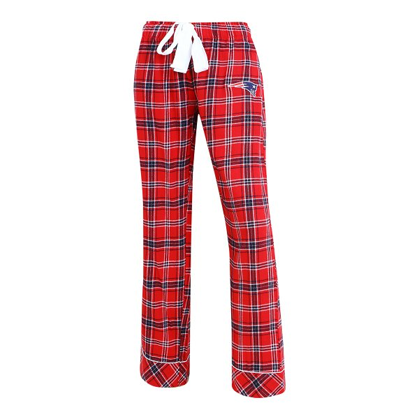 Ladies Captivate Flannel Pants-Red/Navy