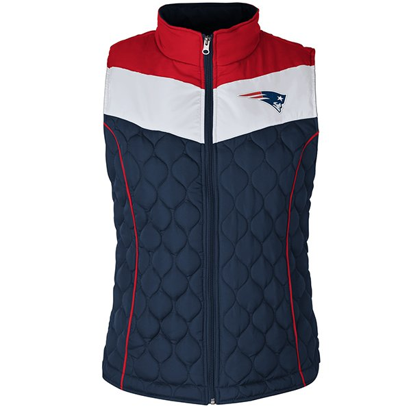Ladies Chalk Talk Full Zip Vest-Navy