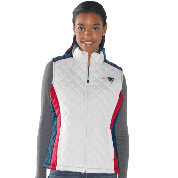 Ladies Diamond Full Zip Vest-White
