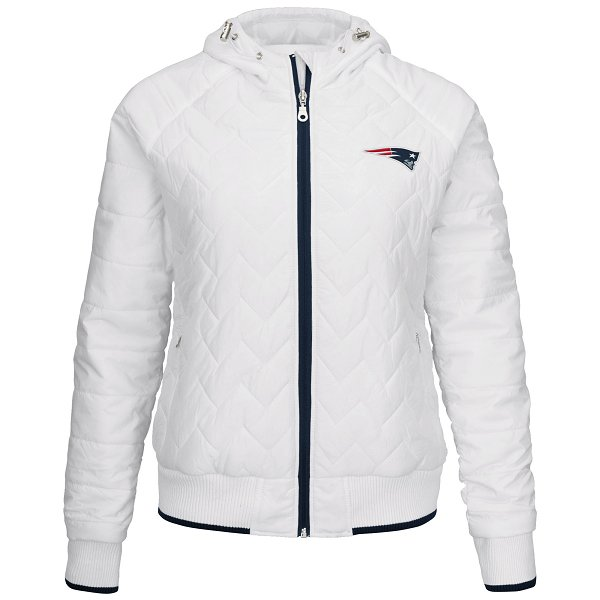 Ladies Drop Back Full Zip Quilted Jacket-White