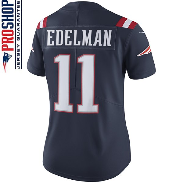Ladies Nike Julian Edelman Color Rush Limited Jersey-Navy