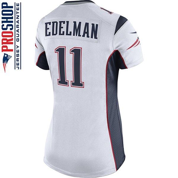Ladies Nike Julian Edelman Game Jersey-White