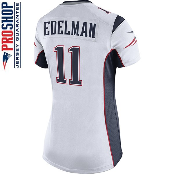 Ladies Nike Julian Edelman Game Jersey-White