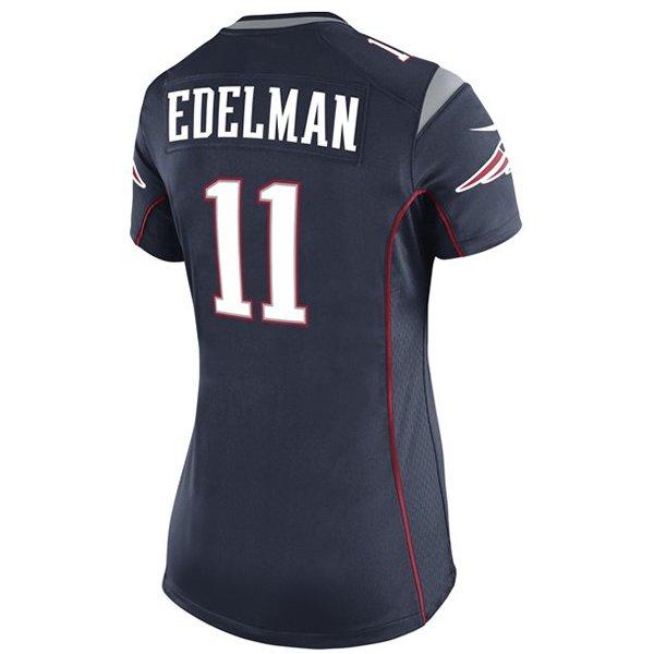 Ladies Julian Edelman Game Jersey-Navy
