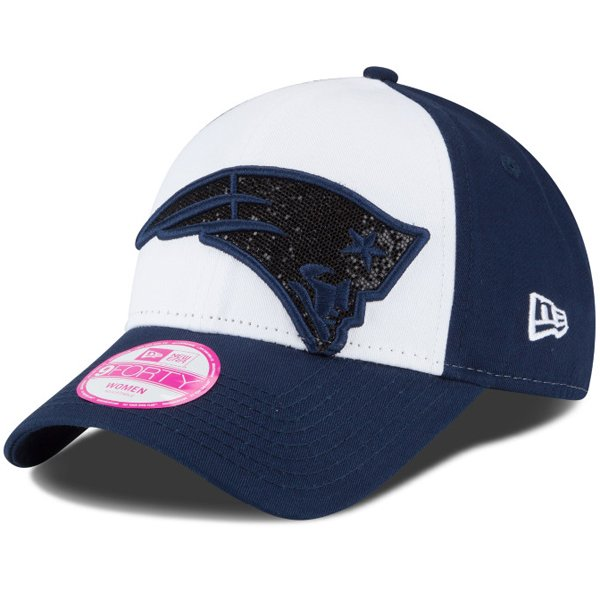 Ladies New Era Glitter Glam Cap-White/Navy