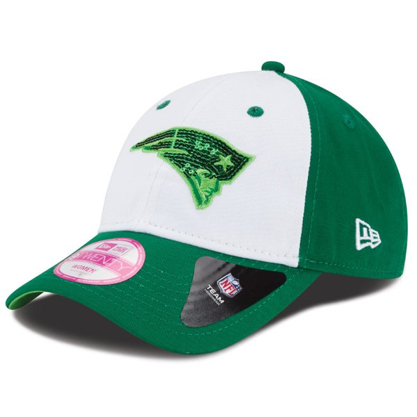 Ladies New Era St. Patrick Glimmer Cap-White/Green