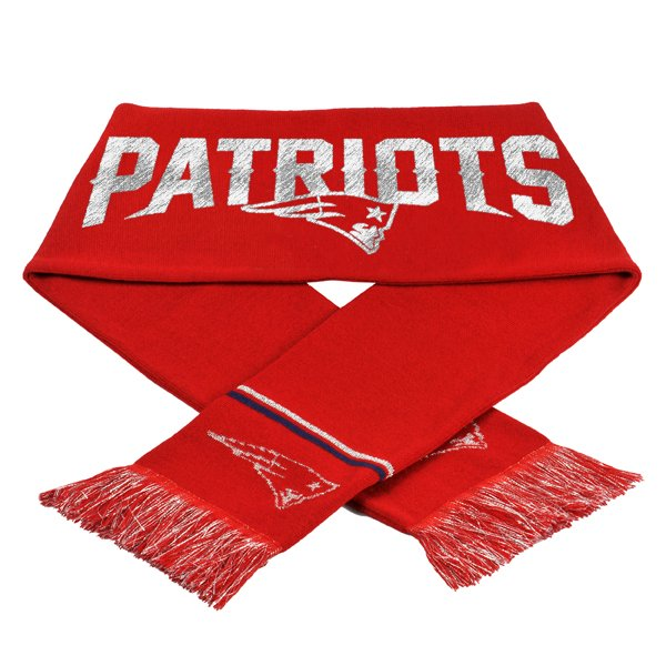 Ladies Patriots Glitter Scarf