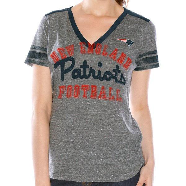 Ladies Instant Replay Tee-Gray